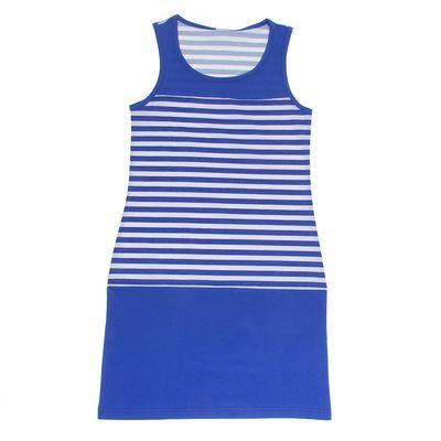 """Платье для девочки """"Тельняшка"""", рост 158-164 см (40), василёк Р707747_П"""