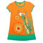 """Платье для девочки """"Травы"""", рост 86-92 см (26), цвет оранжевый, принт МИКС"""