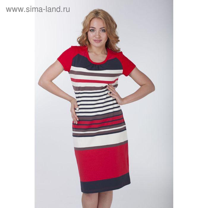 Платье женское в полоску, рост 170-176 см, размер 44 (арт. Р707344)