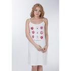 Сорочка женская ночная Р308181 молочный, рост 158-164 см, р-р 52 (104) вискоза