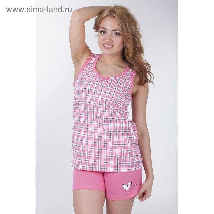"""Пижама женская """"Клетка-сетка"""", цвет розовый, рост 170-176 см, размер 48 (арт. Р208067)"""