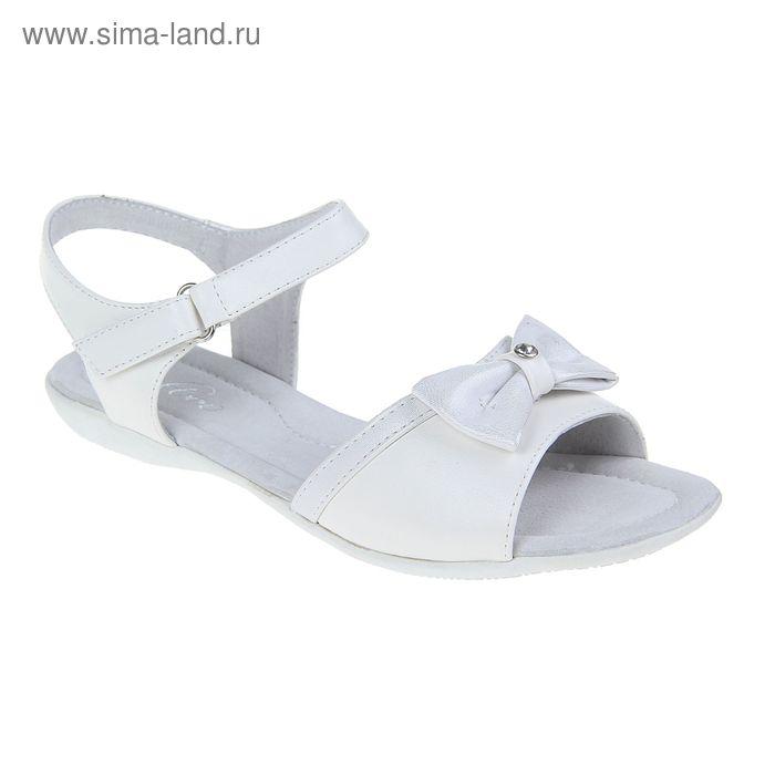 Туфли летние открытые для девочек, цвет белый, размер 32 (арт. С-42530)