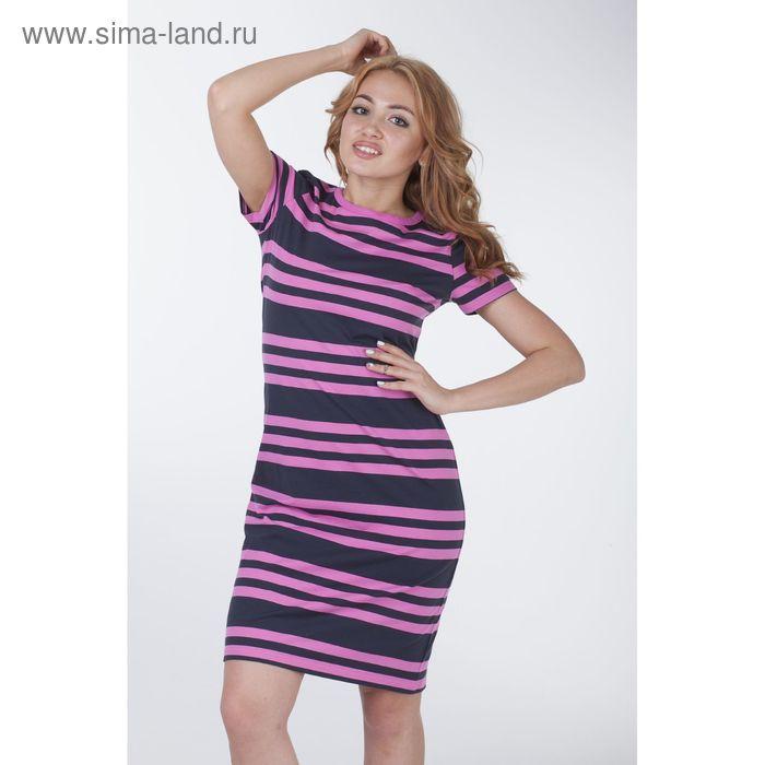 Платье женское в полоску, рост 170-176 см, размер 44 (арт. Р707343)