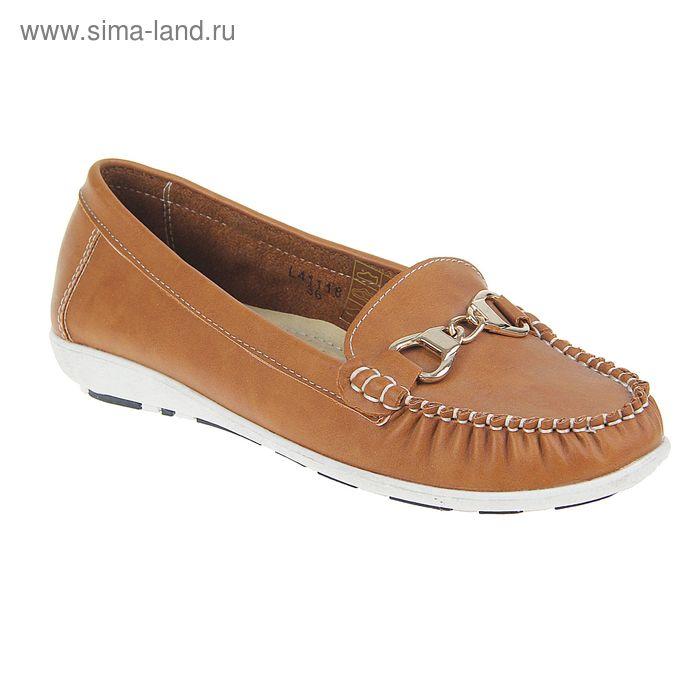 Туфли женские, цвет коричневый, размер 38 (арт. L-41118)