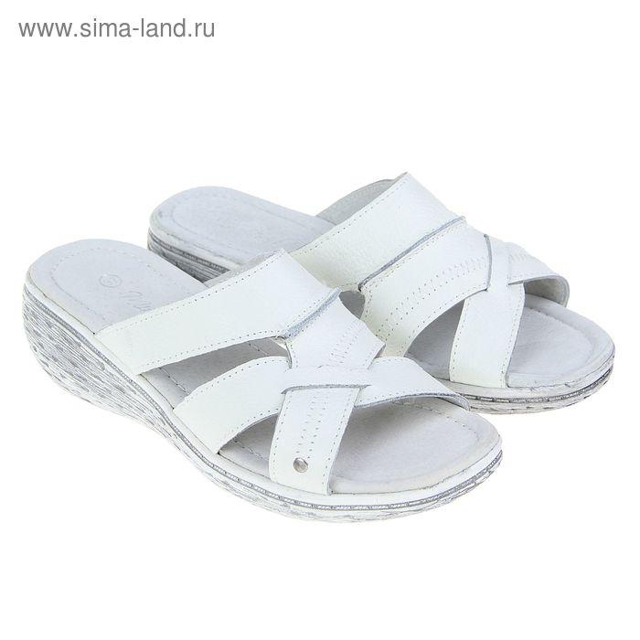 Пантолеты женские, цвет белый, размер 39 (арт. W-37151В)