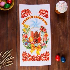 """Рушник пасхальный """"Кулич. Цветы"""", 65 × 30 см"""