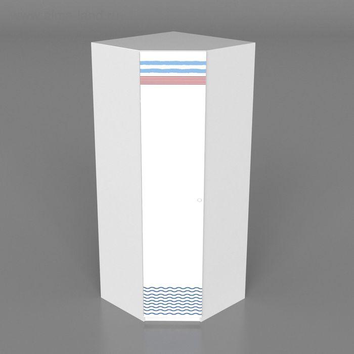 Шкаф для одежды детский угловой Юнга 2000*800*800*500 Белый