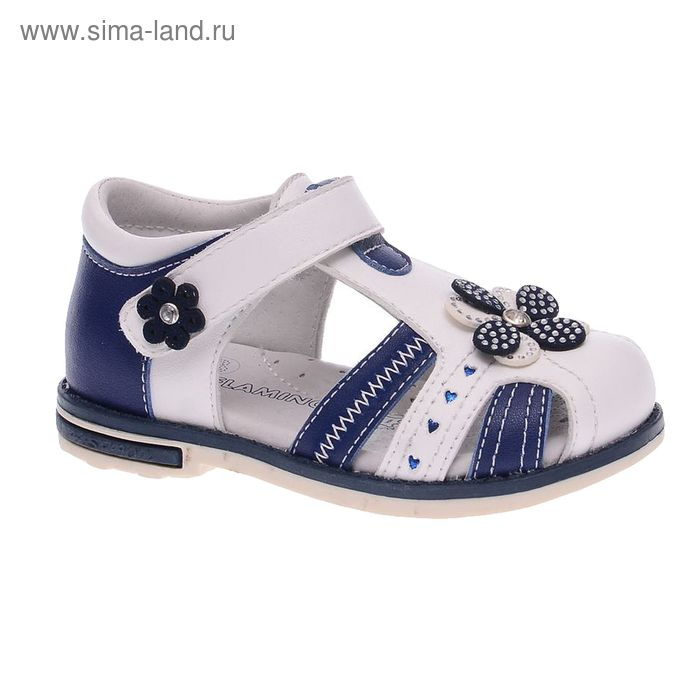 Сандалии детские Flamingo, цвет белый/синий, размер 22 (арт. 61-QS104)