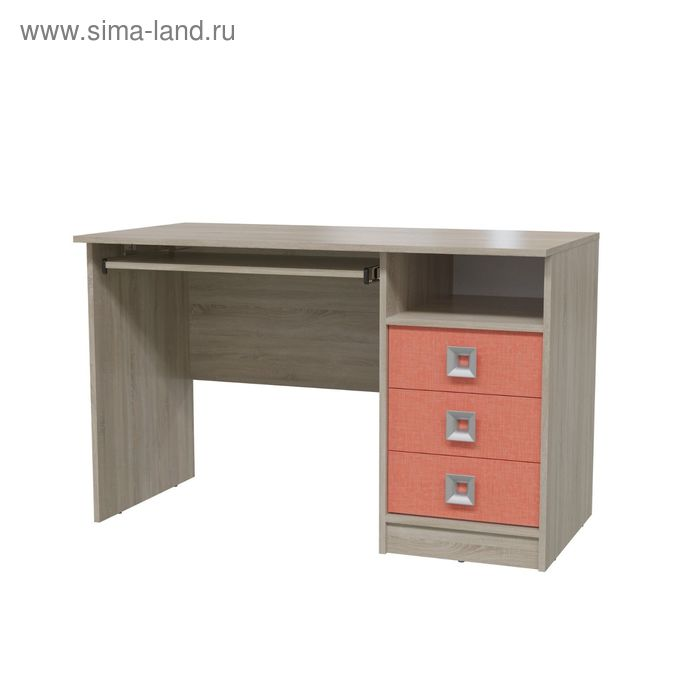 Стол рабочий СИТИ 1200*600*755 Дуб сонома/Коралл