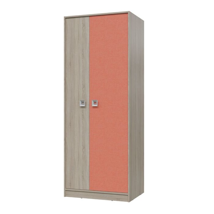 Шкаф для одежды СИТИ 800*585*2015 Дуб сонома/Коралл
