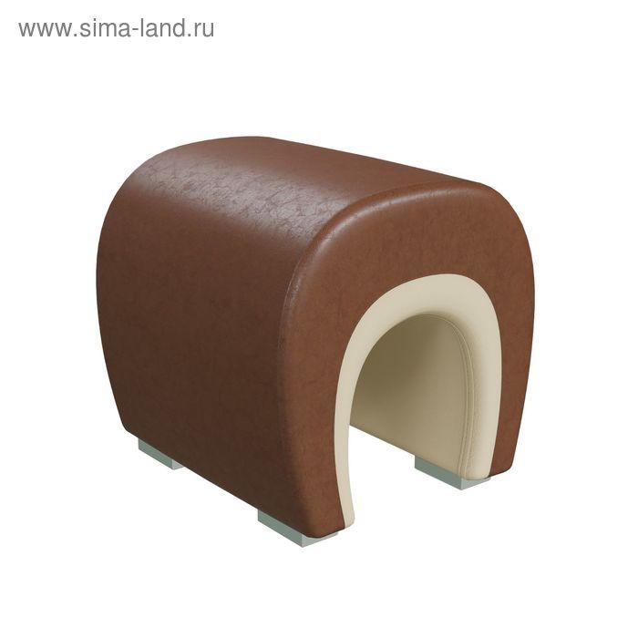 Банкетка ПОДКОВА 450*410*430 Кож.зам бежевый/Кож.зам коричневый