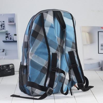 Рюкзак на молнии, 1 отдел, 1 наружный карман, голубой