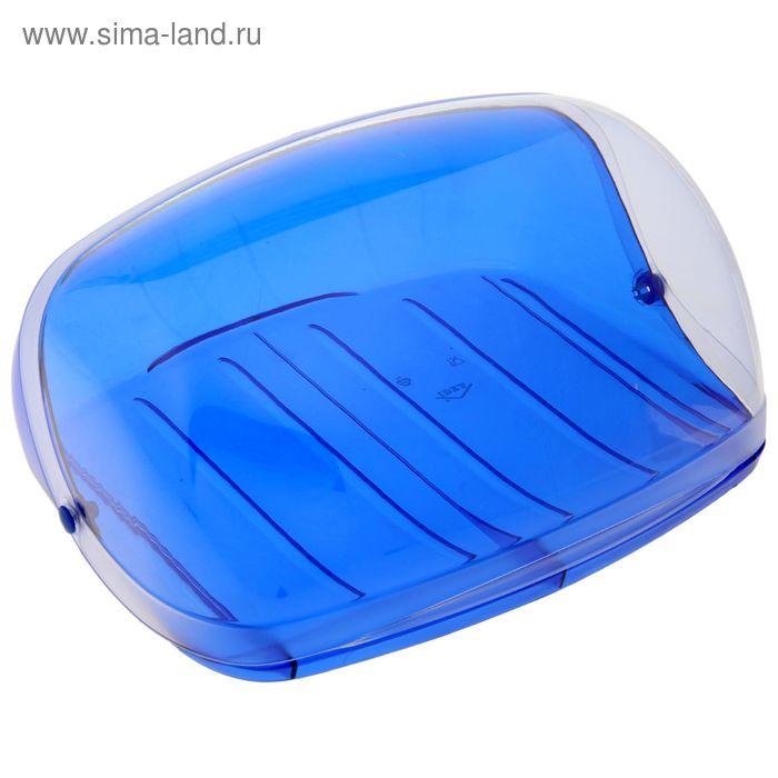 """Хлебница большая """"Кристалл"""", цвет синий"""