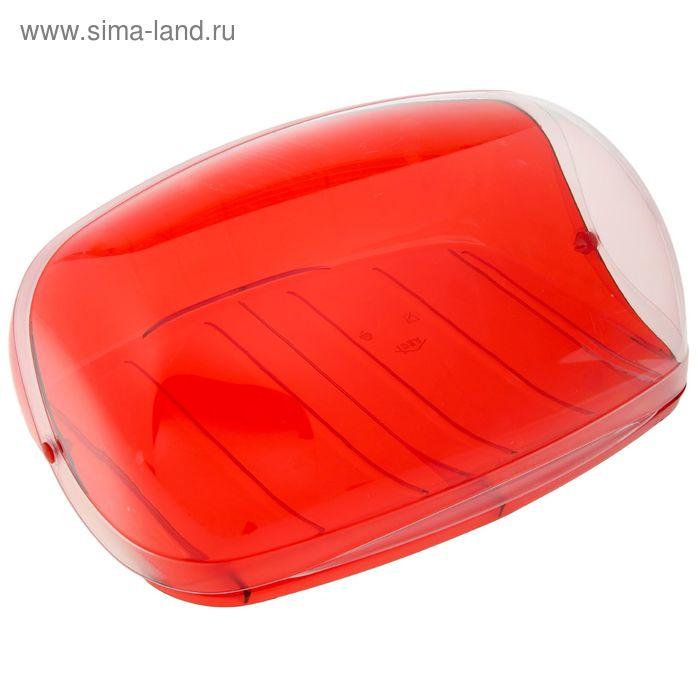 """Хлебница большая """"Кристалл"""", цвет красный"""