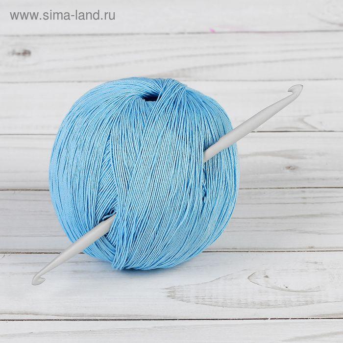 Крючок для вязания, 45907, алюминиевый, двусторонний, d=4-5мм, 13,5см