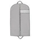 Чехол для одежды с окном 100×60 см, спанбонд, цвет серый