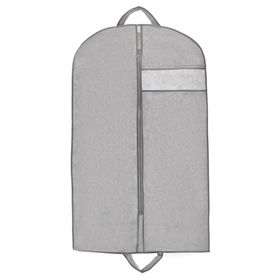 A garment bag with window 100 x 60 cm, foam, color gray