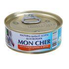 """Влажный корм """"Mon Cher"""" для кошек, кусочки курицы в желе, 100г"""