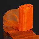 Лента для бантов, 114мм, 1м, цвет оранжевый