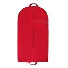 Чехол для одежды, с окном 140х60 см, цвет бордовый