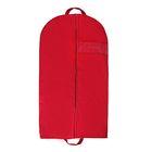 Чехол для одежды с окном 100×60 см, спанбонд, цвет бордовый