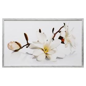 """Картина """"Белая орхидея"""" 67х107 см рамка МИКС"""