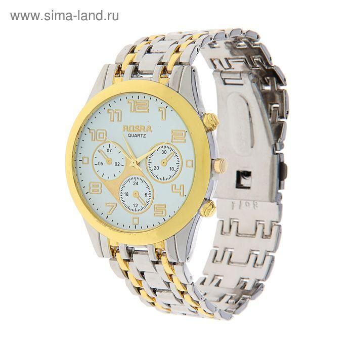 Часы наручные мужские Rosra, белый циферблат