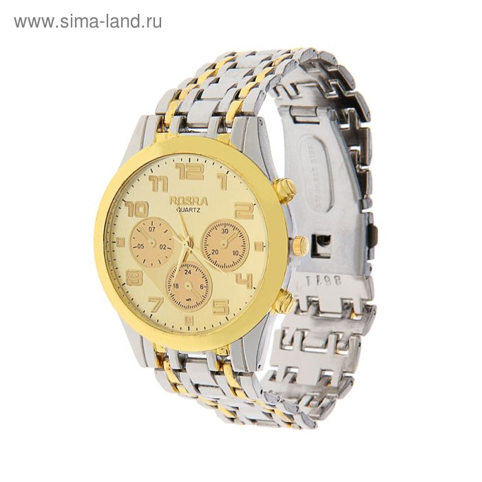 Часы наручные мужские Rosra, желтый циферблат