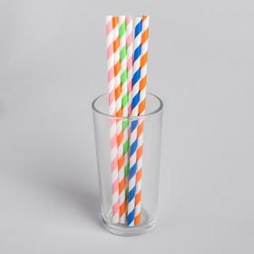 """Трубочка для коктейля """"Спиралька"""", набор 6 шт., цвета МИКС"""