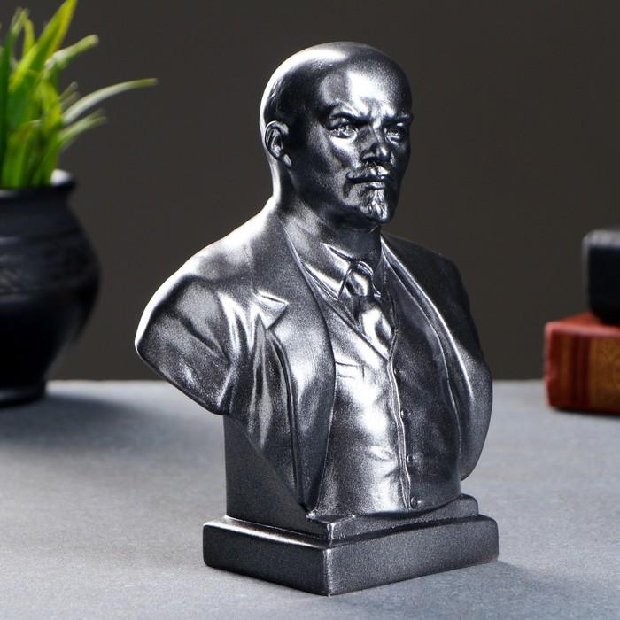 """Статуэтка """"Бюст Ленина"""" большая, металлик"""
