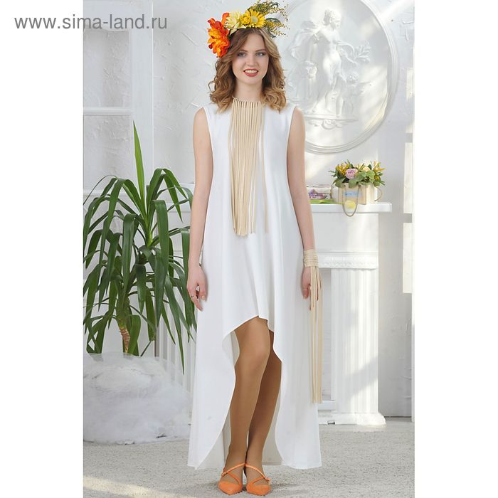 Платье, размер 42, рост 164 см, цвет белый (арт. 4676)