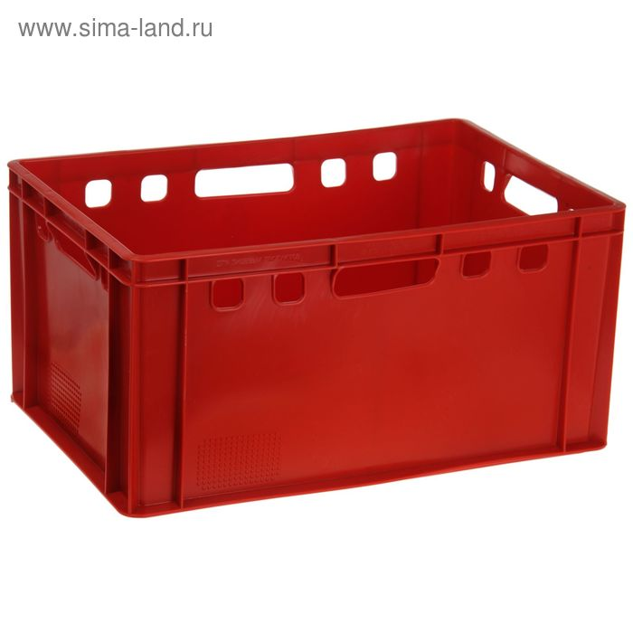 """Ящик п/э 60х40х30 см """"Мясной"""", цвет красный"""
