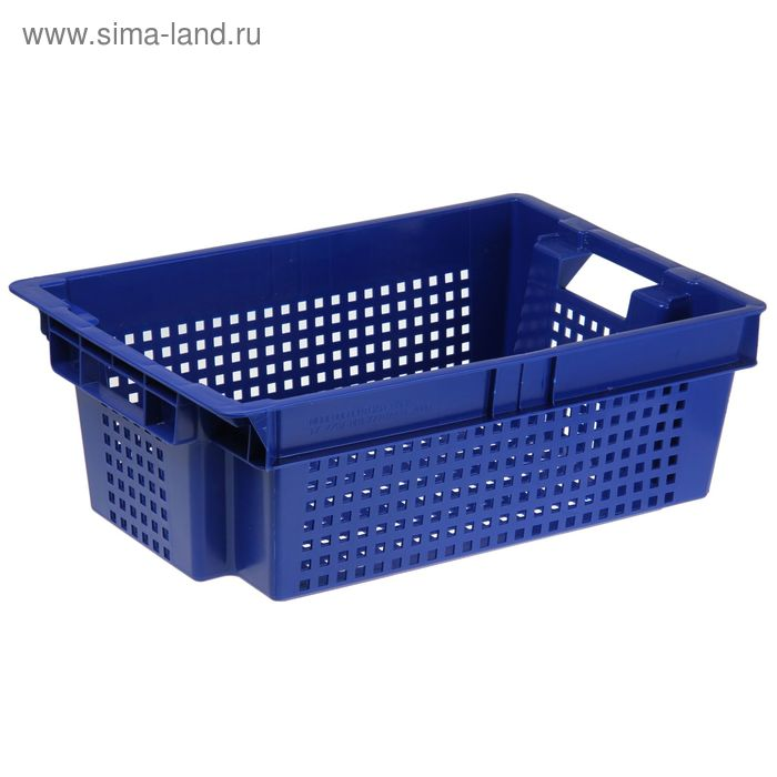 Ящик п/э 60х40х20 см, цвет синий