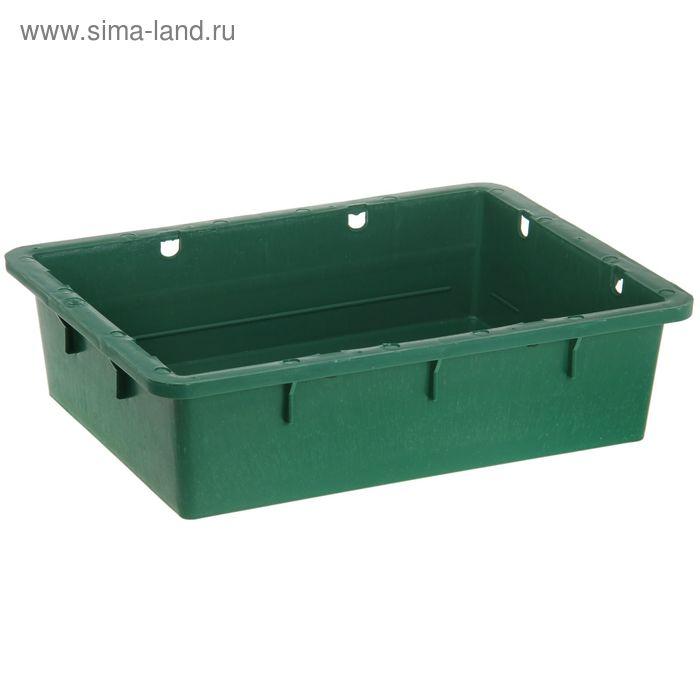 """Ящик п/э 53,2х40х14,1 см без крышки, """"Сырково-творожный"""", цвет зеленый"""