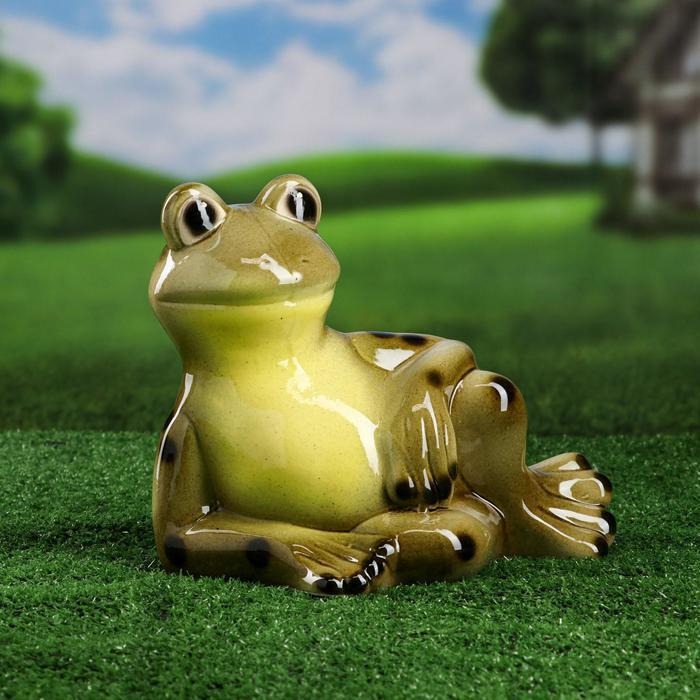 """Садовая фигура """"Лягушка Квака"""", зелёный цвет, 25 см, микс"""