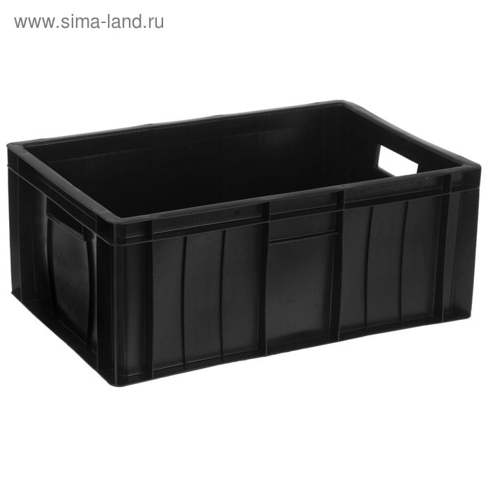 """Ящик п/э 60х40х25 см """"Мясной"""", цвет черный"""