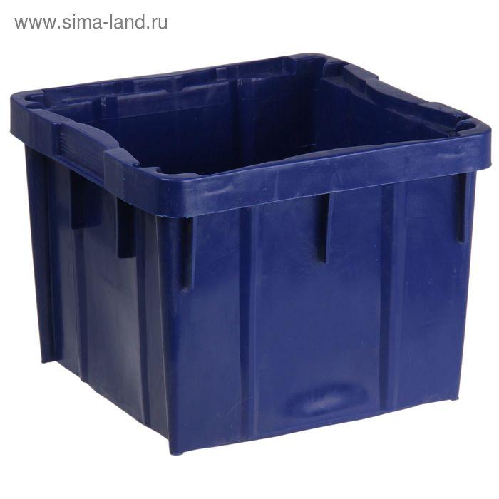 """Ящик п/э 28 л """"Тетра-рекс"""", размер 39,2х36,4х29,8 см, цвет синий"""