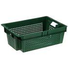 Ящик п/э 60х40х20 см, цвет зелёный