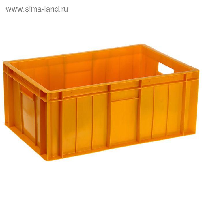 """Ящик п/э 60х40х25 см """"Мясной"""", морозостойкий, цвет желтый"""