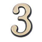 """Цифра дверная """"3"""" """"АЛЛЮР"""", большая, пластик, цвет золото"""