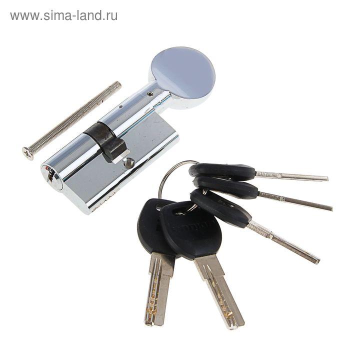 """Цилиндровый механизм """"АЛЛЮР"""" HD FG 60-5К CP, с перфоключем, с вертушкой, цвет хром"""