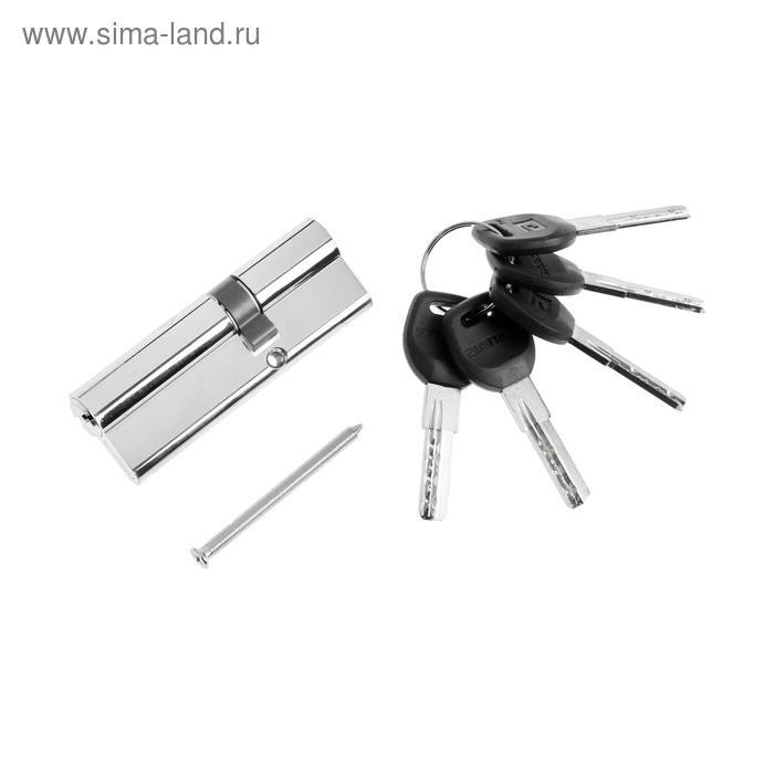 """Цилиндровый механизм """"АЛЛЮР"""" HD F 90-5К CP, с перфоключем, 30x10x50 мм, цвет хром"""