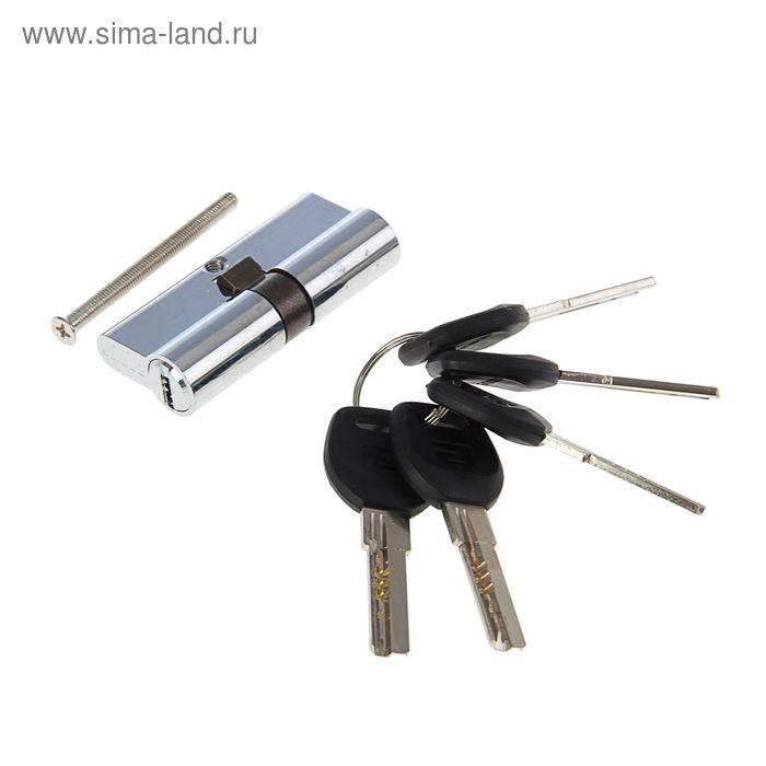 """Цилиндровый механизм """"АЛЛЮР"""" HD F 70-5К CP, с перфоключем, цвет хром"""