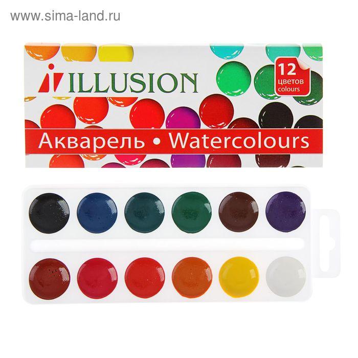 Акварель «Гамма» ILLUSION, 12 цветов, в картонной коробке, без кисти