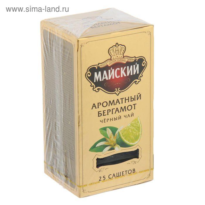 """Чай черный """"Майский"""", Ароматный Бергамот, 25 пакетиков*2 г"""