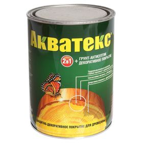 """Грунт-антисептик """"Акватекс"""", орех, 0,8 л"""