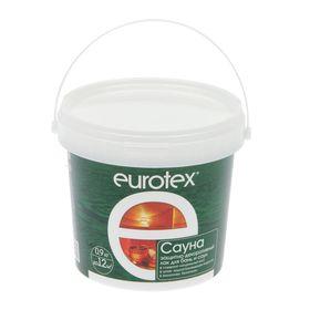Защитно-декоративный лак для бань и саун Eurotex, 0,9 кг