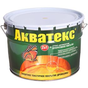 "Грунт-антисептик ""Акватекс"", бесцветный, 9 л"