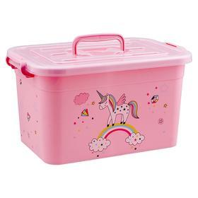 Ящик для игрушек «Радуга» с крышкой и ручками, 6,5 л, МИКС