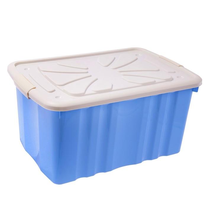 Ящик для игрушек, с крышкой, МИКС